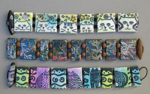 polymer clay reversible bracelets